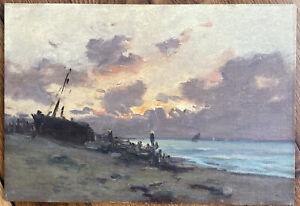 Tableau Paris Impressionnisme Marine Paysage Huile de Maurice Moisset 1860-1946
