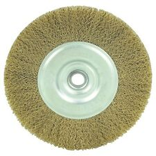 "6"" INCH ROUND WIREWHEEL BRASS WIRE BRUSH WHEEL FOR BENCH GRINDER"
