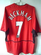 RARE!!! BECKHAM !!! 2002-03 Manchester United Home Jersey Trikot XL