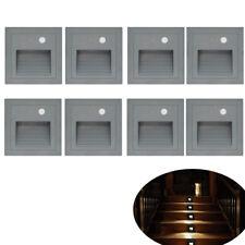 8 X 3W LED Wandeinbauleuchte Treppenlicht Treppe Außen Lampe mit Body Sensor