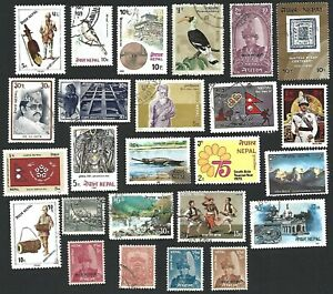 Nepal Small Collection of used Stamps
