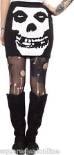 130448 Black & White Misfits Crimson Ghost Tube Skirt Sourpuss Punk Rock Small S