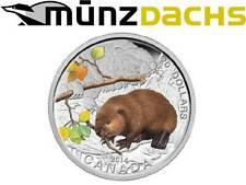 20 $dólares Baby Animals castor Beaver canadá 2014 1 Oz plata pp