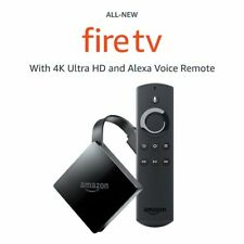Amazon Fire TV with 4K Ultra HD and Alexa Voice Remote Black 3rd Gen 2017 NEW