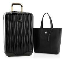 $382 JOY Metallic Set E*Lite Travel Medium Hardside Luggage and Leather Tote