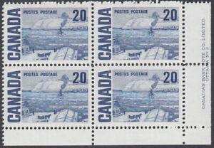 Canada - #464iii - 20c Centennial Issue, The Ferry, Plate Block #2, PVA  - MNH