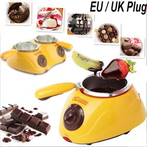 NEW Chocolate Melting Pot Electric Fondue Melter Machine Set DIY Kitchen Tool
