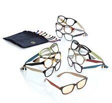 JOY Mangano 20 PC Couture SHADES Readers w Smart Lenses & Designer Frames +2.50
