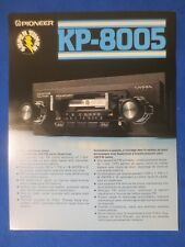Pioneer KP-8005 Car Cassette Sales Brochure Factory Original The Real Thing  v2