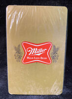 Vintage Miller Beer SEALED Deck of Playing Cards.