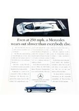 1990 Mercedes Benz 560SEL 250mph Race -  Vintage Advertisement Car Print Ad J423