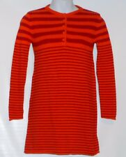 The Childrens Place Girls Long Sleeve Stripe Knit Sweater Dress Melon 10 NWT