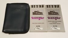 1987 FORD RANGER OWNERS MANUAL USER GUIDE GT STX STD XLT 2.3L TURBO DIESEL ENGIN