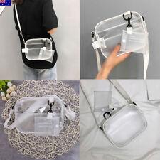AU Women Clear PVC Tote Bag Shoulder Handbag Transparent Beach Clutch Purse Gift