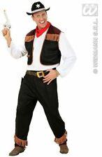 Adult Male Cowboy Fancy Dress Mens Wild West Costume Medium