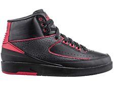 Nike Air Jordan 2 Retro Shoes Black Red UK6/EU40/US7 834274 001