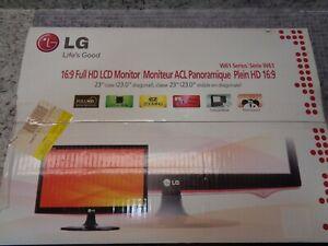 """LG 23"""" LCD Monitor W61 Series - FullHD -W2361V-PF"""