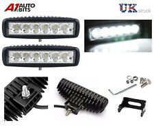 """2 X 6 LED DRL Fog Running Lights Slim 6.29"""" FOR PEUGEOT 206 306 406 207 307 18W"""