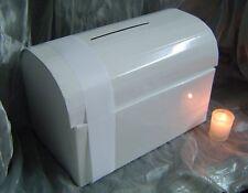 White Wedding Wishing Well Money Box Chest For Envelopes & Cards + 2m Ribbon
