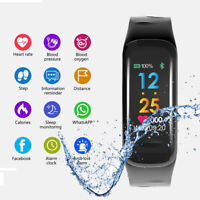 Smartwatch Fitness Tracker Bluetooth Armband Sport Watch Android iOS Waterproof