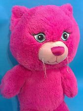 Build a Bear Cat Plush Hot Pink Big Head Plays One Direction Beautiful BABW 19""