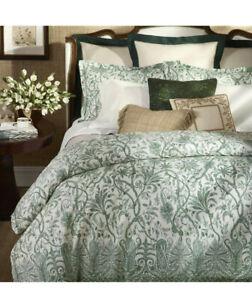 Ralph Lauren Charleston Preslie Green White Full Queen Comforter & Shams