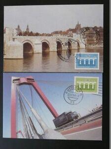 bridge Europa Cept 1984 x2 maximum card Netherlands 71995