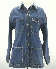 ESPRIT DE CORP Jacket DENIM Vintage LOGO Blue BARN Coat Women's Medium M RARE