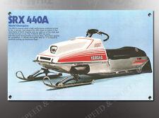 VINTAGE 1977 YAMAHA SRX440 SRX440A SNOWMOBILE BANNER