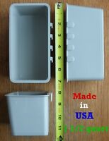 Cage Cups 3pk 1.2 Quart / 38 fl oz Gray Hanging Feed & Water Cage Cups Chickens