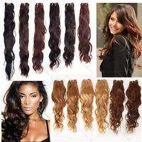 "Natural Wave 100% Virgin Human Hair Wavy Weave Weft Extensions 100g 14""-26"""
