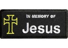 IN MEMORY OF JESUS CHRISTIAN EMBROIDERED IRON ON  PATCH