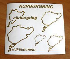 KIT 6 adesivi NURBURGRING decal sticker ritagliato NB pista racing AUTO GERMANY