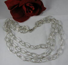 Sterling Silver 3 Strand Draping 40g Necklace Feral Cat Rescue