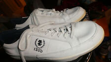 Izod Lacoste Mens White Leather Casual Sneakers Shoes size 13 M