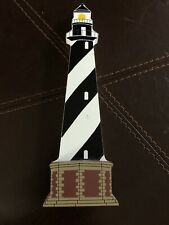 New listing Shelia's Collectibles Cape Hatteras Lighthouse Nc Signed Wooden Shelf Sitter
