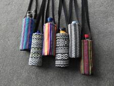 Fairtrade cotton water drink bottle shoulder sling bag sports - choose colour