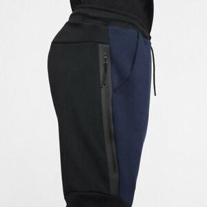 Nike Men's Sportswear Tech Fleece Jogger Pants 805162-018 Black/Navy-