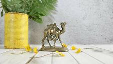 More details for vintage detailed brass camel figurine   sculpture   indian  school of art jaipur