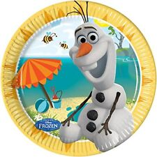 20 cm Disney Frozen assiettes avec L'olaf D'é