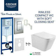 GROHE RAPID SL FRAME 5in1 with WALL HUNG RIMLESS WC + QUALITY SOFT CLOSING SEAT