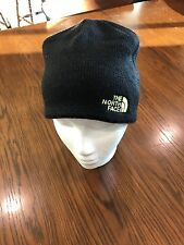 The North Face Youth Bones Beanie Hat TNF Black Safety Green Medium NWT 42519b3cd