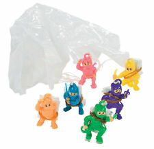 48 Ninja Warrior Paratrooper Toys - Parachute Novelty Party Favors - Bulk 48pcs
