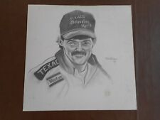Davey Allison 15x14 Drawing by Lew Hartman--