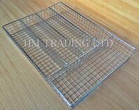 Wire Chrome Metal Cutlery Utensil Tray Holder Drawer Organizer Tidy Kitchen