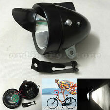 Retro Bicycle Bike Cycling LED Front Light Headlight Vintage Lamp with Bracket