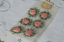 1920s old stock ribbon rosettes France