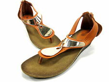 BUCCO, DEMURE SANDAL, WOMENS, TAN, US 10M, SYNTHETIC, NEW WITHOUT ORIGINAL BOX