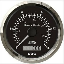 85mm Black GPS speedometer 0-15knots for marine boat CMSB-BS-15L(SV-KY08017)