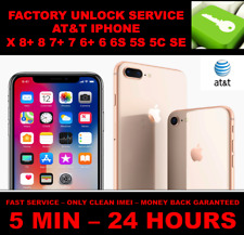 Factory Unlock Code Service IMEI AT&T for iPhone X 8 8+7+ 7 6 SE fast 5m - 24hrs